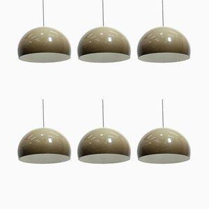Modell Meblo Deckenlampen von Harvey Guzzini, 1970er, 6er Set