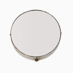 Specchio da parete rotondo Mid-Century con luce