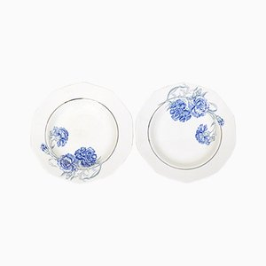 Plates from Saint-Amand, 1930s, Set of 2