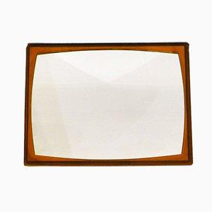 Espejo Mid-Century pequeño con marco de carey de plástico