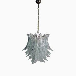 Lámpara de araña italiana de cristal de Murano, 1972