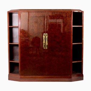Mobiletto in legno di ulivo, anni '30