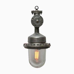 Deckenlampe aus Aluminium & Glas, 1950er