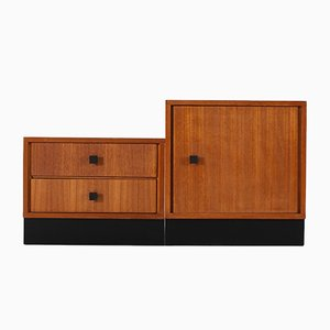 Modernist Modular Cabinets, 1950s, Set of 2