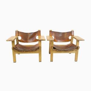 Spanische Mid-Century Stühle von Børge Mogensen für Fredericia, 2er Set