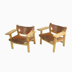 Mid-Century Spanish Chairs by Børge Mogensen for Fredericia, Set of 2