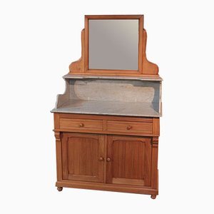 Vintage Beech Bathroom Furniture, 1920s