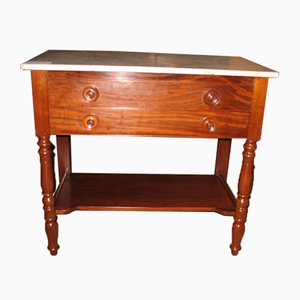 Antique Mahogany and Marble Bathroom table