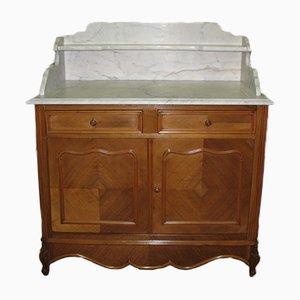 Muebles de baño vintage de chapa de nogal y mármol