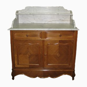 Vintage Walnut Veneer and Marble Bathroom Furniture