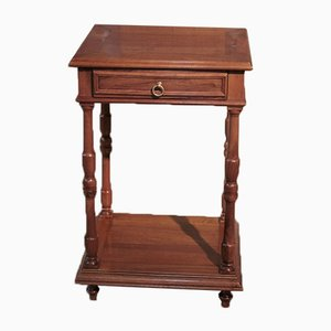 Antique Walnut Nightstand, 1900s