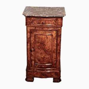 Antiker Nachttisch aus Birke