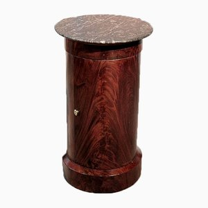 Antique Empire Mahogany and Marble Nightstand, 1805
