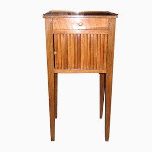 Antiker Nachttisch aus Eiche & Kirschholz