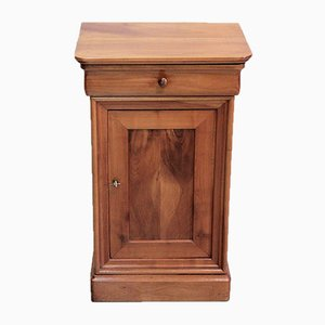 Antique Louis Philippe Style Cherry Wood Nightstand