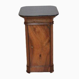 Antiker Nachttisch aus Nussholz