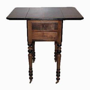 Antiker Louis Philippe Nachttisch aus Nussholz
