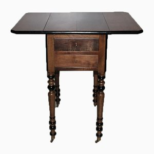 Table de Chevet Louis Philippe Antique en Noyer