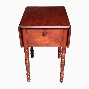 Klappbarer antiker Nachttisch