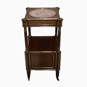 Antique Louis XVI Style Mahogany and Marble Nightstand