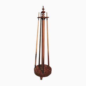 Antique Walnut Holder Cues Billiard