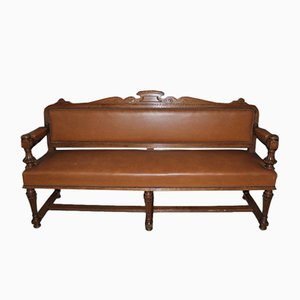 Vintage Oak Billiard Bench