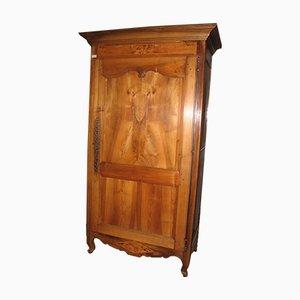 Großer Louis XV Stil Kleiderschrank aus Nussholz & Eschenwurzel, 19. Jh