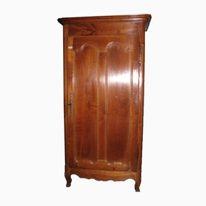 Small Antique Louis XV Style Cherrywood and Oak Wardrobe