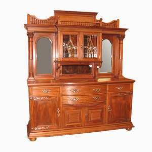 Large Vintage English Mahogany Sideboard