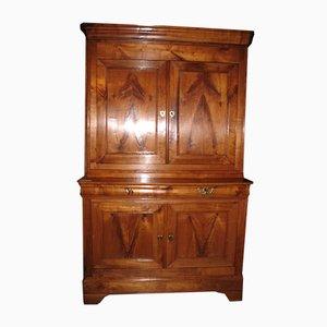 Antique Louis Philippe Style Cherry Wood Wardrobe