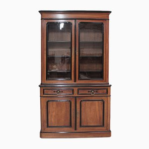 Antique Napoleon III Style Walnut Veneer Cabinet