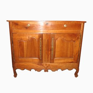 Antique Louis XV Style Cherry Wood and Copper Buffet
