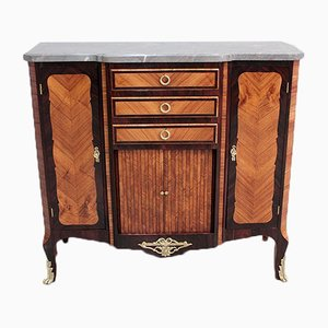 Antique Louis XVI Style Rosewood and Blue Marble Buffet