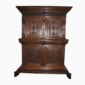 Large 17th Century Renaissance Style Oak Cabinet