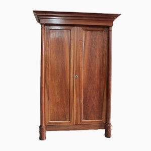 Antique Empire Walnut Wardrobe