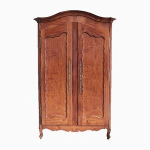 Antique Louis XV Style Birch and Ash Wardrobe