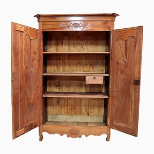 Antique Birch and Cherry Wood Wardrobe