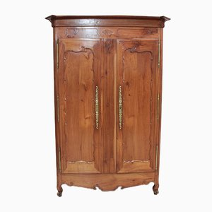 Antique Louis XV Style Birch Wardrobe