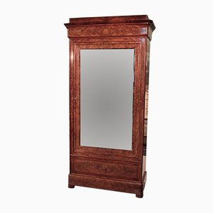 Antique Mahogany Veneer and Oak Wardrobe