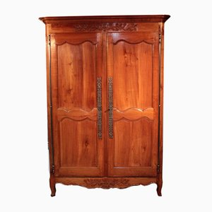 Antique Cherry and Oak Wardrobe
