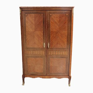 Vintage Rosewood and Mahogany Marquetry Wardrobe