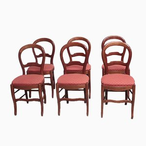 Vintage Birch Dining Chairs, Set of 6
