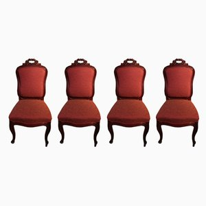 Antique Cuban Mahogany Dining Chairs from Jeanselme, Set of 4