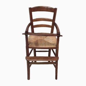 Antiker Kinderstuhl aus Kirschholz