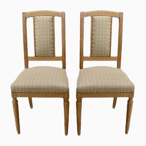 Small Vintage Beech Dining Chairs, Set of 2