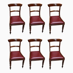 Antique Victorian Dining Chairs, Set of 6
