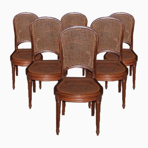 Louis XVI Style Mahogany Dining Chairs, Set of 6
