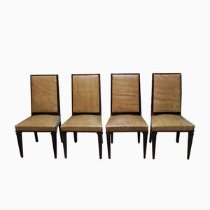 Mid-Century Mahogany Dining Chairs, Set of 4