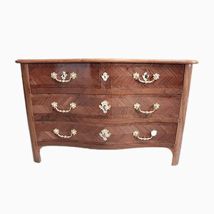 Antique Walnut Veneer, Cherry, and Oak Dresser