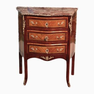 Vintage Louis XV Style Marquetry Chest of Drawers